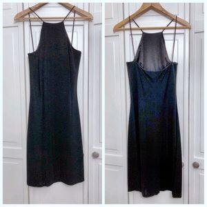 Ralph Lauren Label Black Strappy Halter Dress SZ S